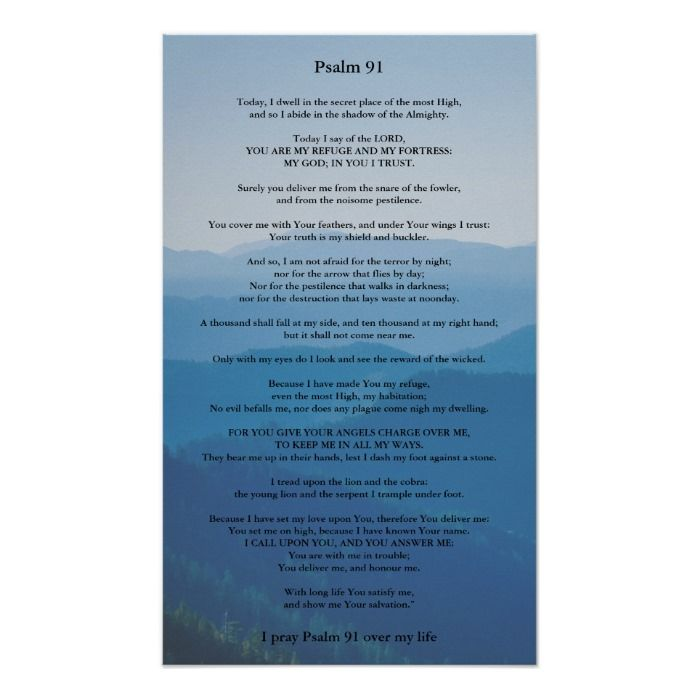 Psalm 91 Poster Can be Personalised...
