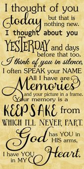 SVG, DXF & PNG - I thought of you today ... by MyFunkyFarmHouse on Etsy...